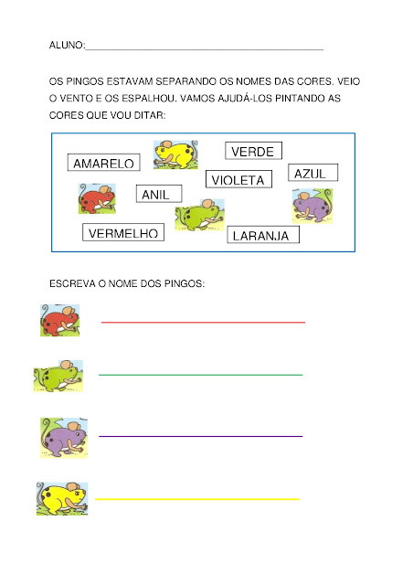 os pingos e as cores pdf