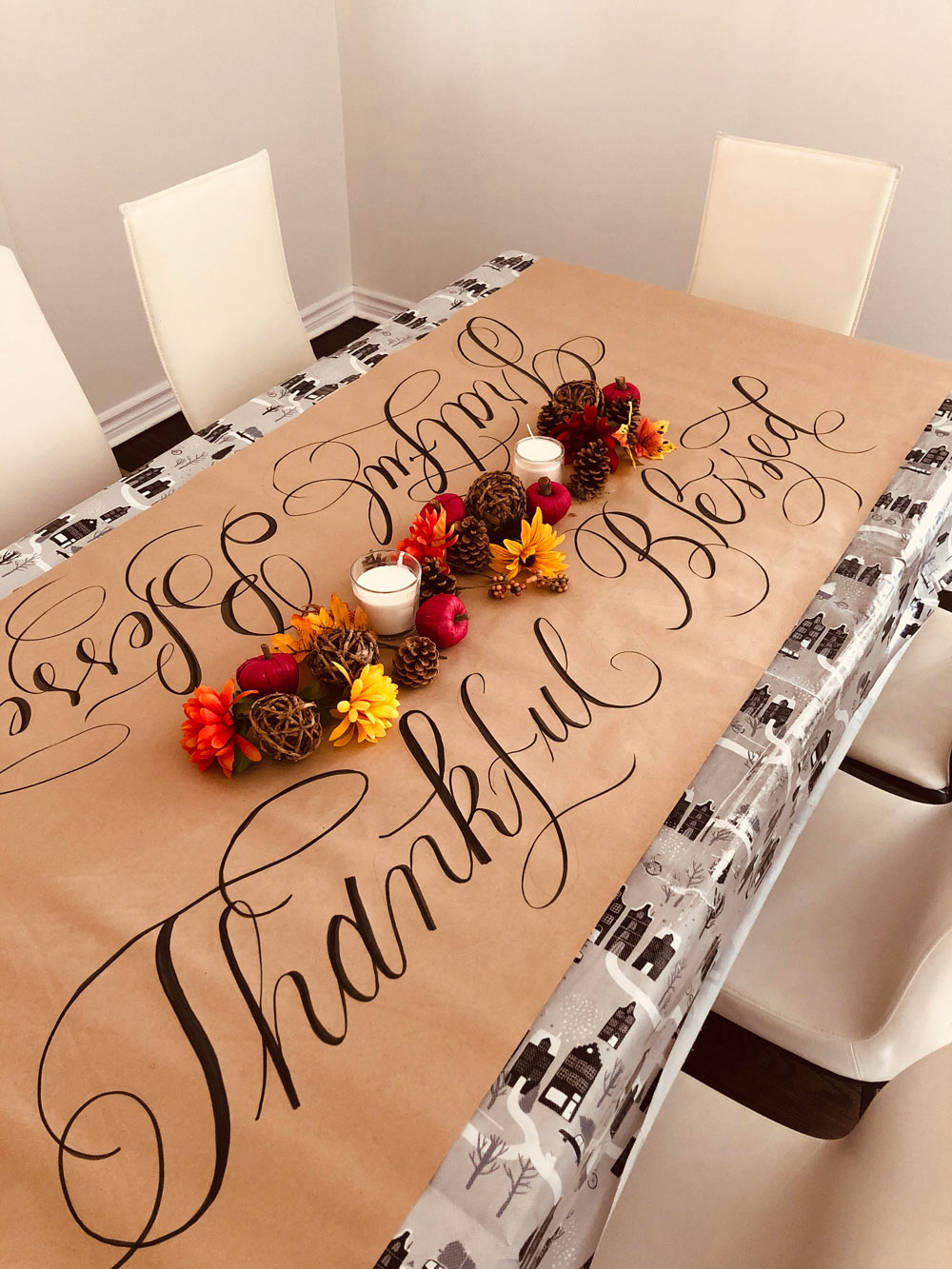 Thanksgiving Faux Calligraphy Wall Art (Printable Worksheet)