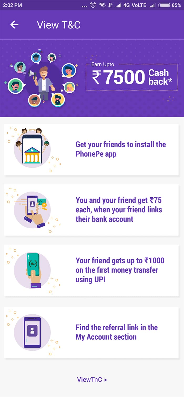 7500 cashbank tame winner,  PhonePe app par