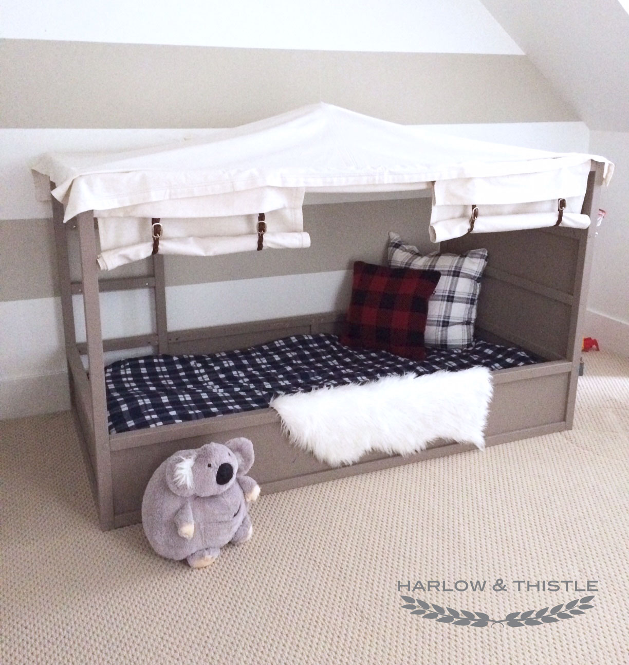 IKEA Kura Bed Hack: DIY Boy Canopy Bed - Harlow & Thistle - Home