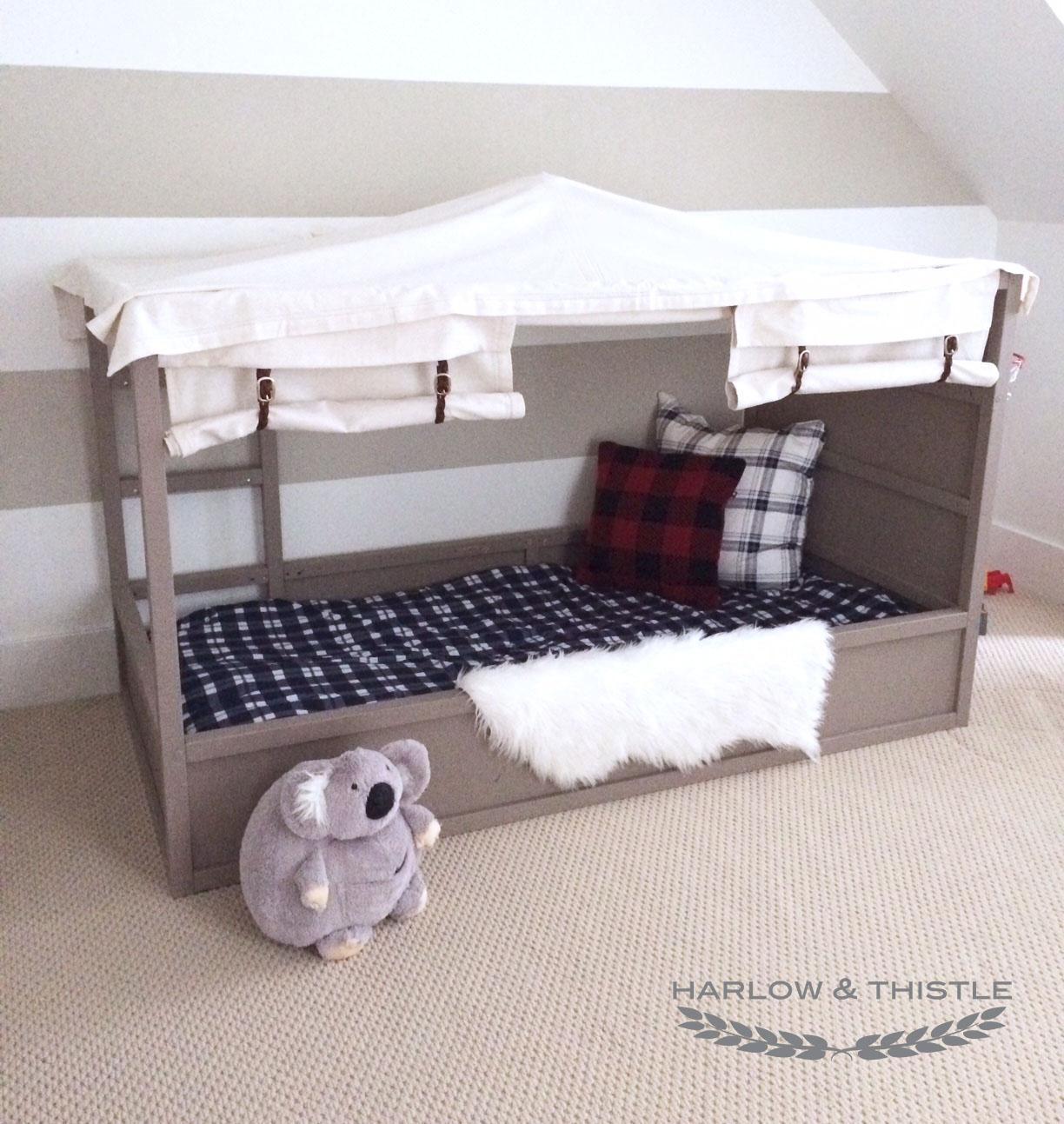 ikea kura bed hack diy boy canopy bed