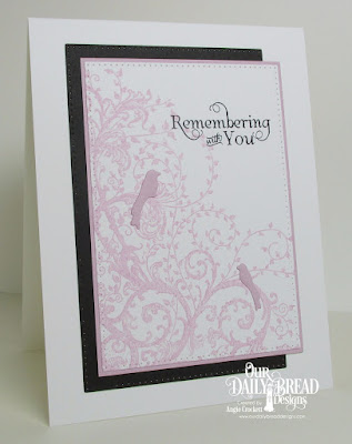 ODBD Belles Vigne, ODBD Loving Memories, ODBD Custom Birdcages and Banners Dies, ODBD Custom Pierced Rectangles Dies, Card Designer Angie Crockett