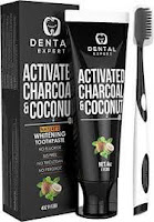 Activated Charcoal Teeth Whitening Toothpaste - DESTROYS BAD BREATH - Best Natural Black Tooth Paste Kit - MINT FLAVOR - Herbal Decay Treatment - REMOVES COFFEE...