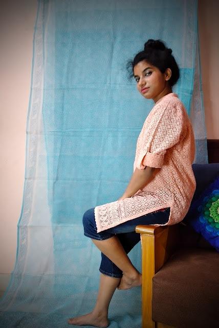 binge in isolation chikan work kurti with capri pants