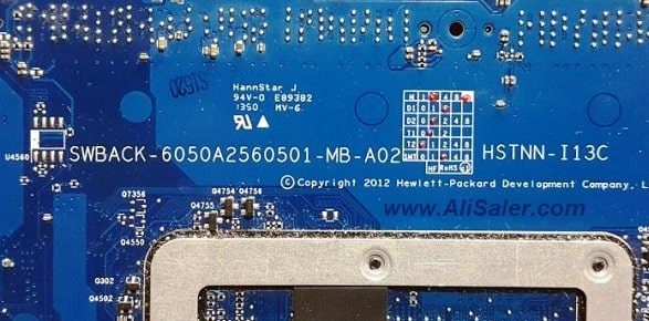6050a2560501-mb-a02 SWBACK Hp Elitebook 820 G1 Bios