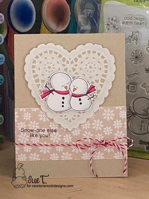 Snow-one else like you by Sue T. features Frozen Friends by Newton's Nook Designs; #newtonsnook, #inkypaws, #cardmaking