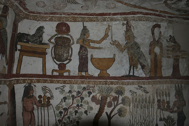 Paintings from the tomb of Petosiris at Muzawaka (V)