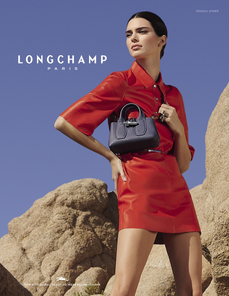 Kendall Jenner makes a statement for the Longchamp Spring/Summer 2020 Campaign