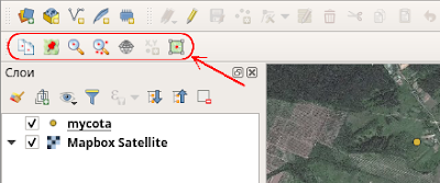 QGIS panel Lat Lon Tools toolbar