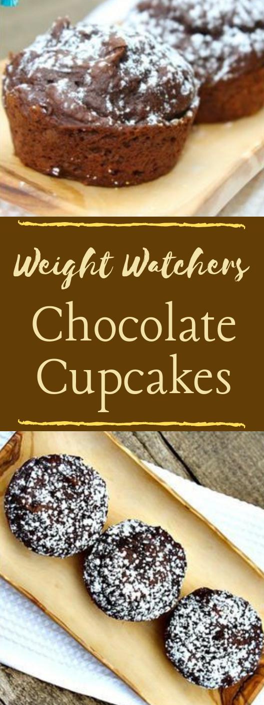 Weight Watchers Chocolate Cupcakes #dessert #cake #cupcakes #chocolate #brownies