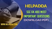 SSC GK 400 Most Important Questions ( Download PDF)