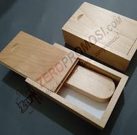 Packaging Flashdisk model Kayu Slide