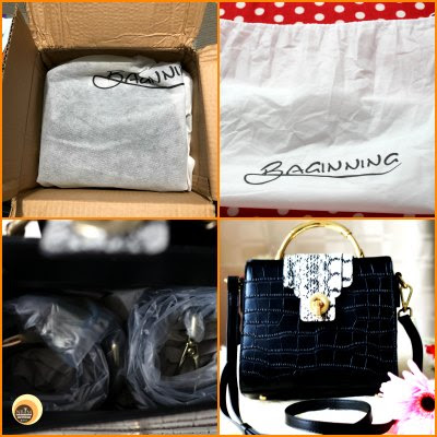 Baginning black crocodile printed snakeskin strap leather satchel handbag review on Natural Beauty And Makeup Blog