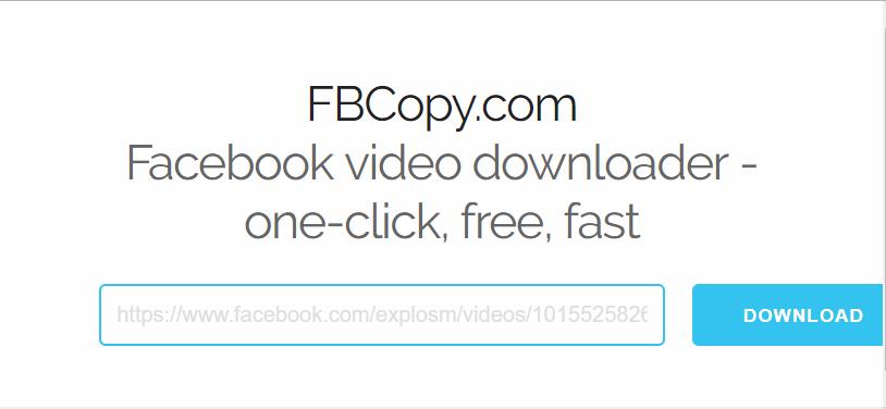 FBCopy.com 下載儲存 Facebook 影片