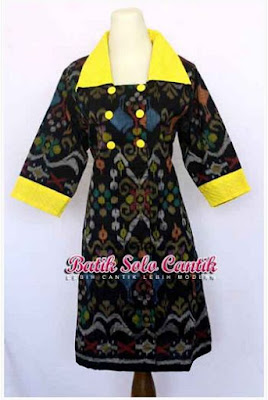 Dress Batik Solo Cantik Diyanti