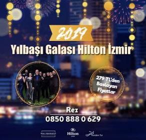 Hilton İzmir yılbaşı programları menü fiyat