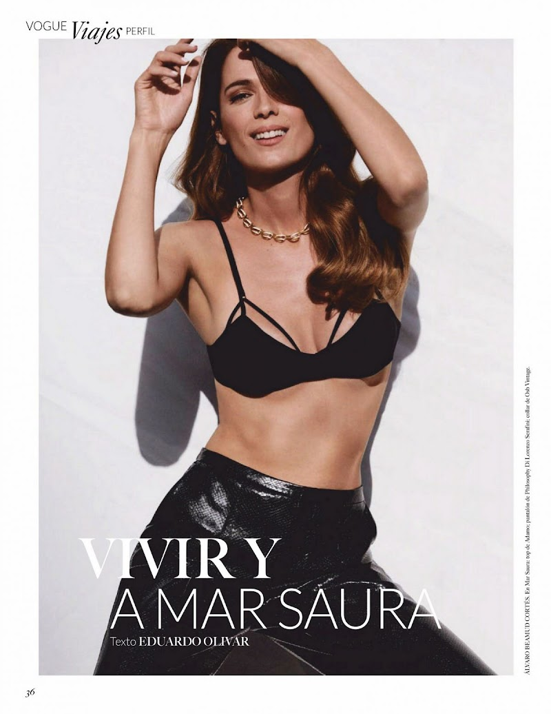 Mar Saura Featured in Vogue Magazine - Mexico October 2020