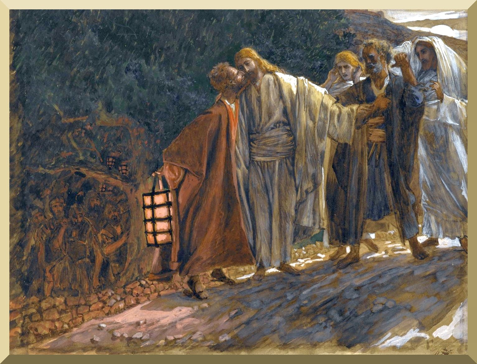 """The Kiss of Judas"" -- by James Tissot"
