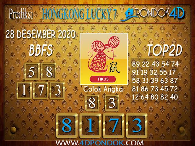 Prediksi Togel HONGKONG LUCKY 7 PONDOK4D 28 DESEMBER 2020