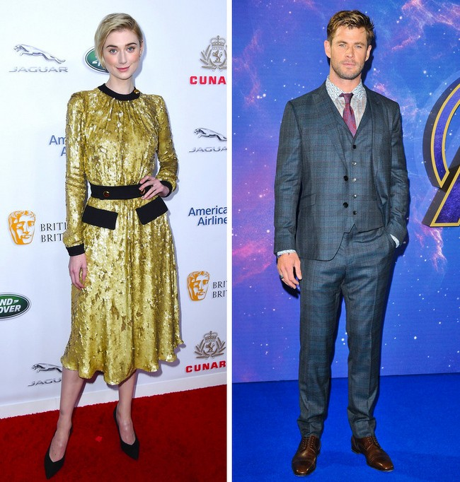 Elizabeth Debicki e Chris Hemsworth: 1,90 m