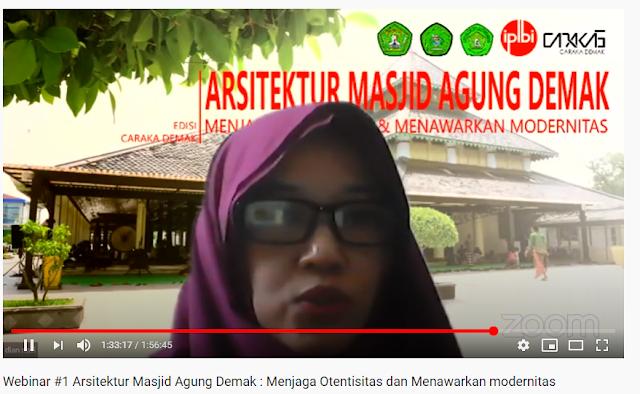 Refleksi Webinar Arsitektur Masjid Demak