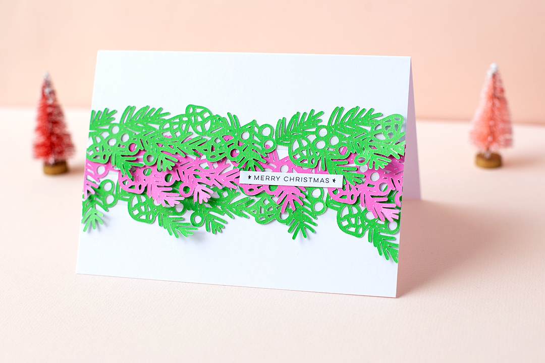 Card with Garland Cutfile Merry Christmas