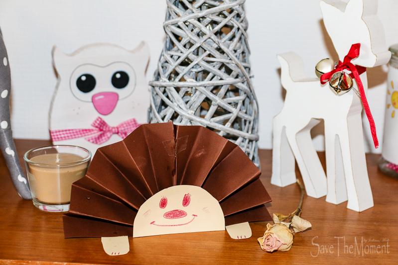 Jolinas welt basteln mit kindern im herbst igel aus papier - Herbstdeko basteln kindergarten ...