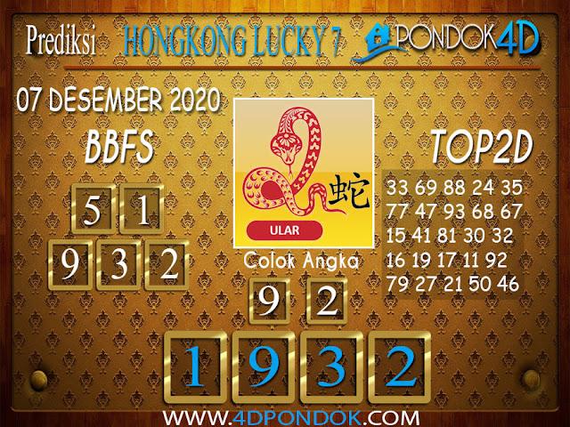 Prediksi Togel HONGKONG LUCKY 7 PONDOK4D 07 DESEMBER 2020