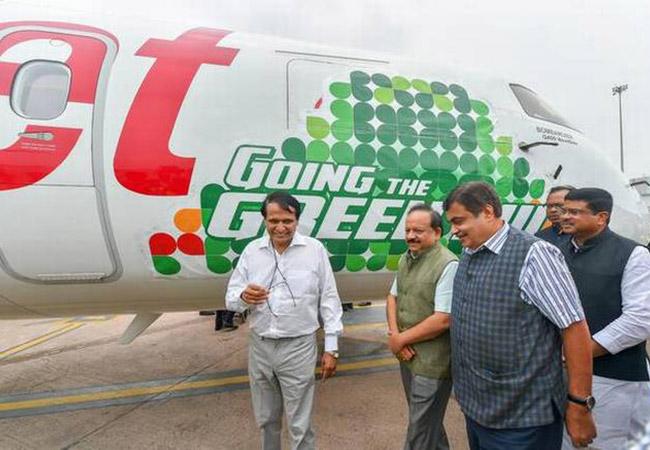 Tinuku SpiceJet operates India's first biojet fuel flight