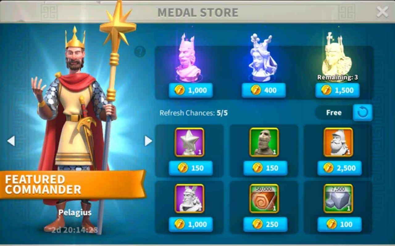 Medal store