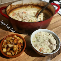 Slimming World Syn Free Creamy Chicken Casserole & Crispy Fried Potatoes Recipe.