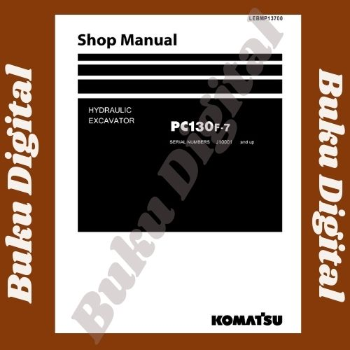 Shop Manual komatsu pc130F-7 excavator