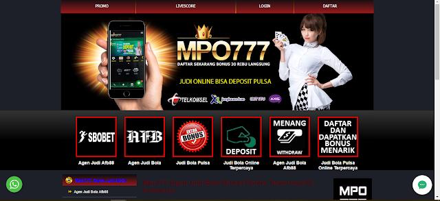 Mpo777 Agen Judi Bola AFB88 Deposit Pulsa Online Terpercaya