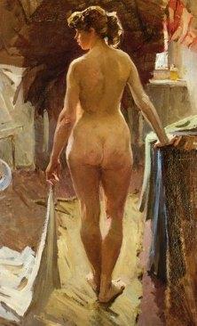 Подборка живописи «Стоящая обнаженная (со спины)»