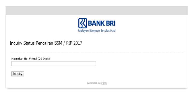 Cara Mengetahui Pencairan BSM/PIP lewat Inquery Bank BRI