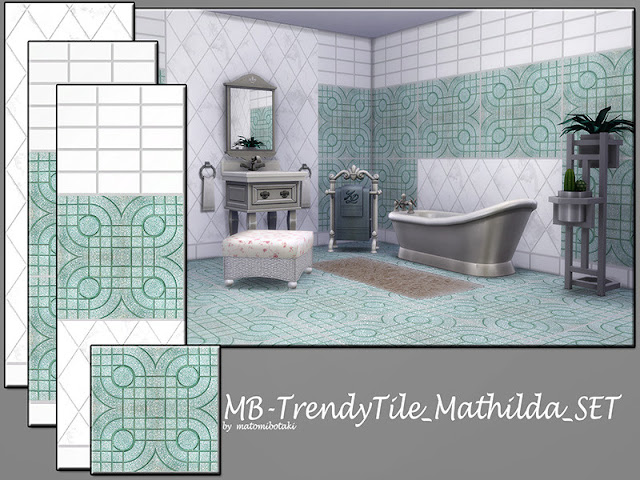 Комплекты плиточных покрытий пол+стена для The Sims 4 со ссылками на скачивание