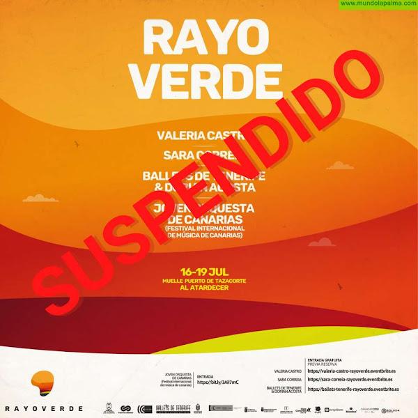 El Cabildo suspende los conciertos del Puerto de Tazacorte y el resto de la agenda cultura del jueves en adelante por recomendación de Sanidad