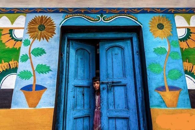 Tribal home door