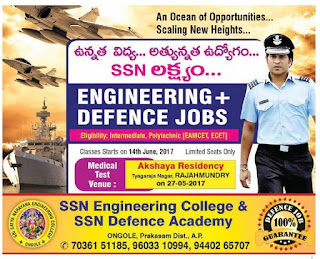 SSN ENGINEERING COLLEGE & SSN DEFENCE ACADEMY ONGOLE