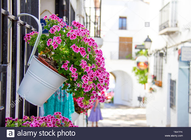 balcón flores altea calles mediterraneo benidorm azalea jazmin confinamiento