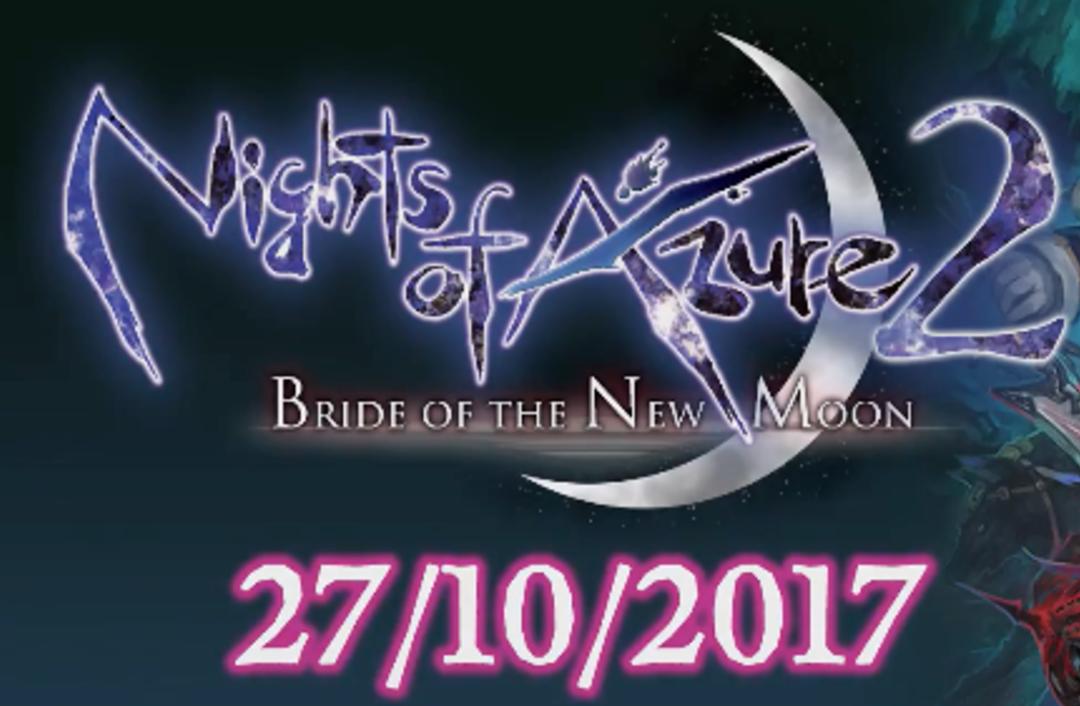 Nights of Azure 2: Bride of the New Moon estrena tráiler de lanzamiento