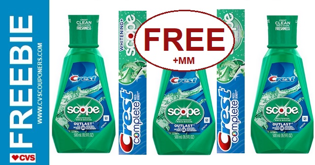 FREE Scope CVS Couponers Deal 10-27-11-2
