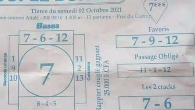 Pronostic quinté samedi Paris-Turf TV-100 % 02/10/2021