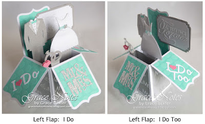 Together Forever box card flaps, by Grace Baxter