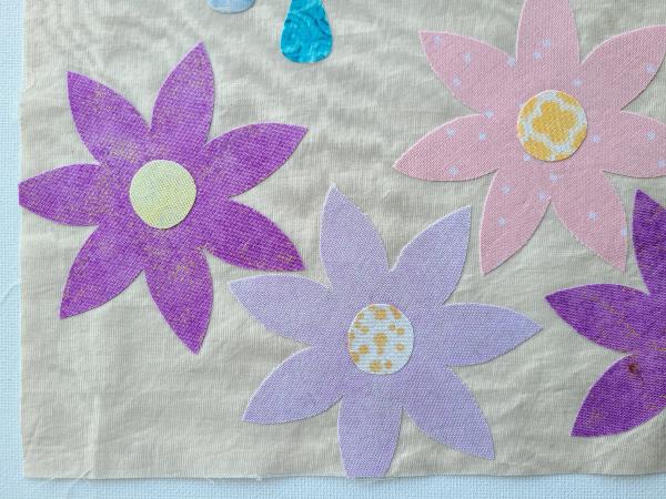 Rain will make the flowers grow quilt block | DevotedQuilter.com