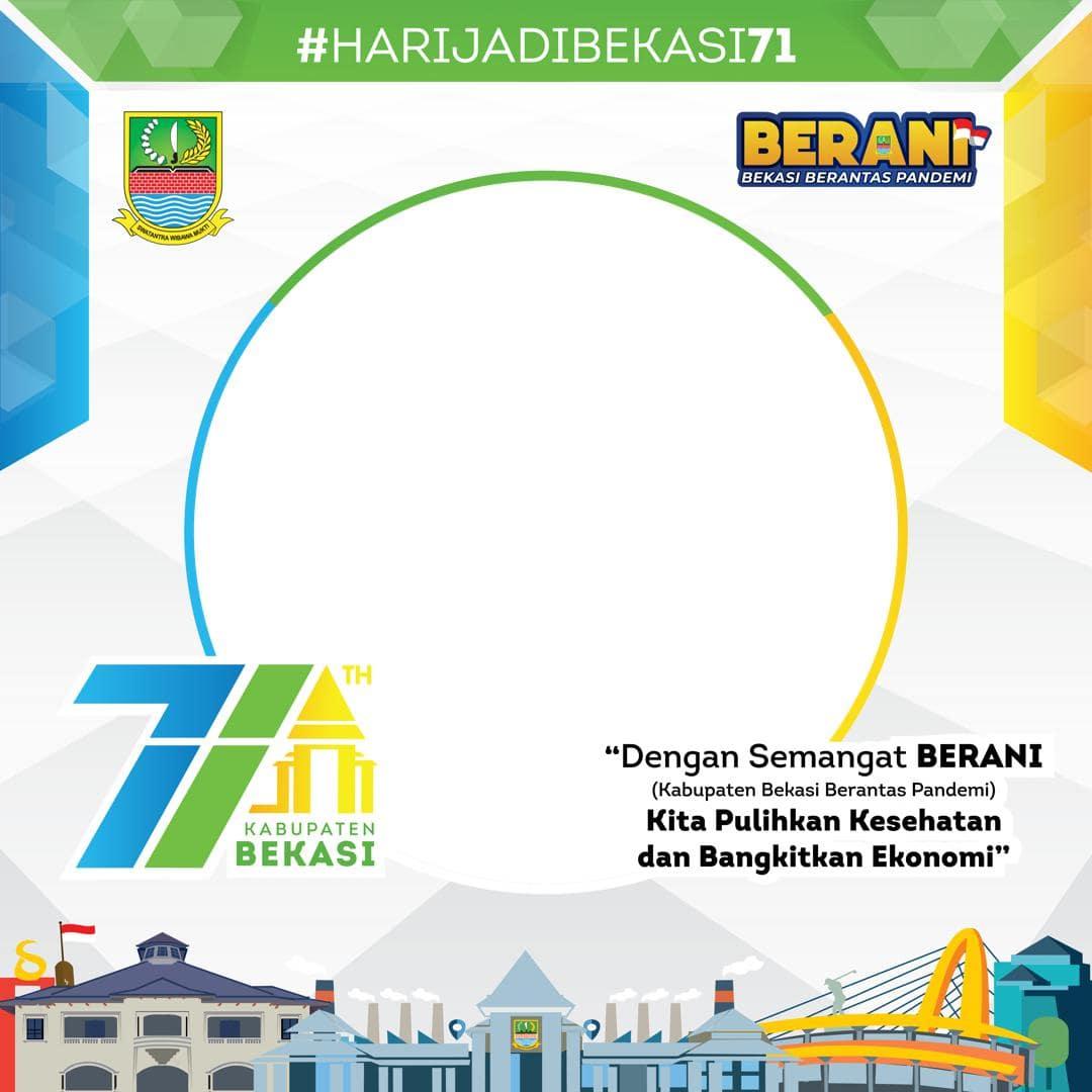 Link Download Bingkai Foto Twibbon Selamat Hari Jadi Kabupaten Bekasi ke-71 Tahun 2021