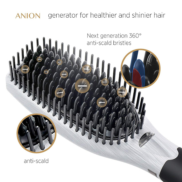 Asavea Hair Straightening Brush With Ion Generator