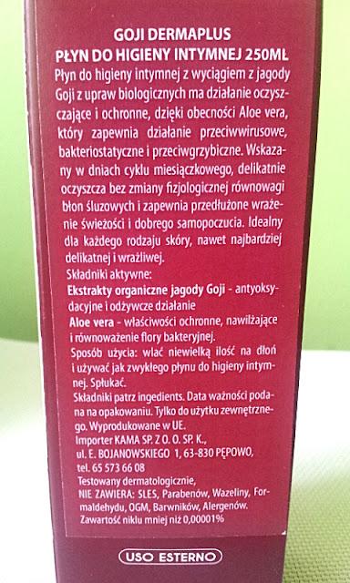 Płyn do higieny intymnej z ekstraktem jagody goji Derma Plus - Opis