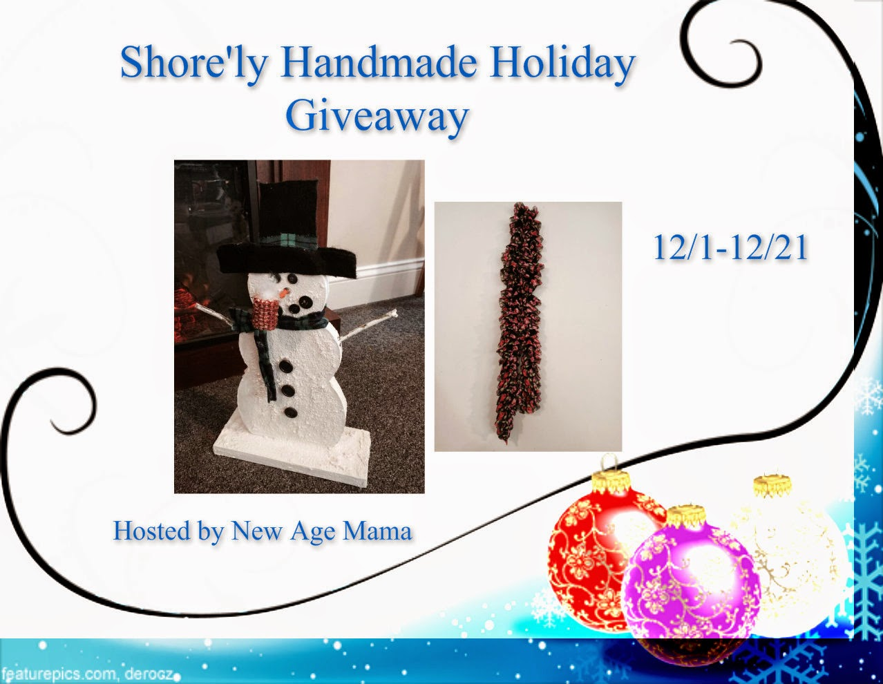 Enter the Shore'ly Handmade Holiday Giveaway. Ends 12/21.