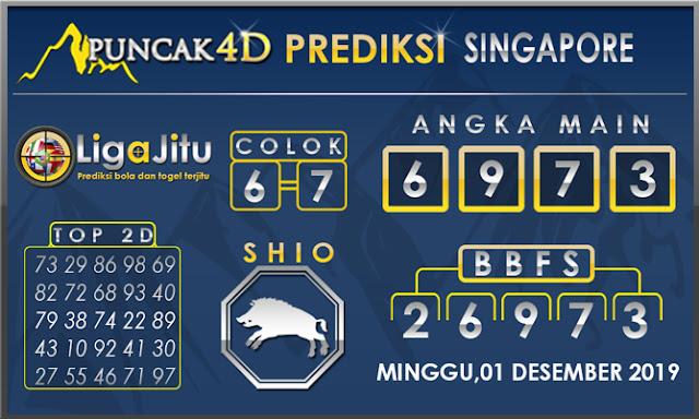 PREDIKSI TOGEL SINGAPORE PUNCAK4D 01 DESEMBER2019